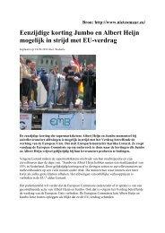 Eenzijdige korting Jumbo en AH mogelijk in strijd met EU ... - NMV