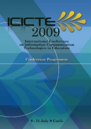 Conference Programme - icicte