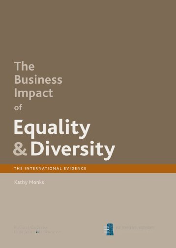 the effects of diversity on business Managing cultural diversities in internationalization of  role in the process of business development while diversity is  • government effects on.