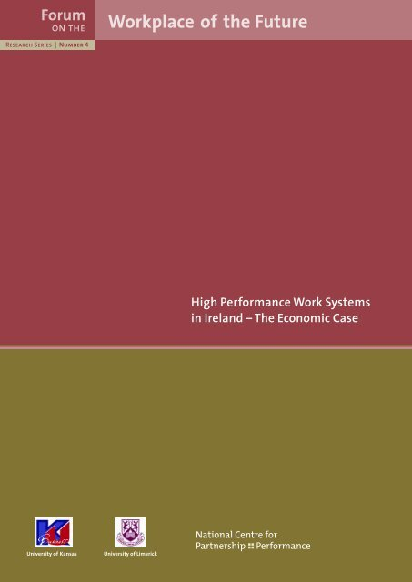High Performance Work Systems in Ireland – The Economic Case ...
