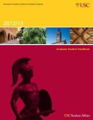 Graduate Student Handbook - USC Student Affairs Information ...