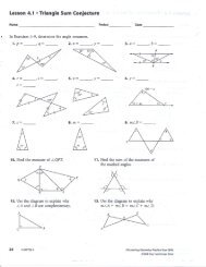 Triangle sum conjecture and Properties of Isosceles Triangles