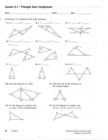 Isosceles Triangle Theorems 10th - 11th Grade Worksheet | Lesson ...