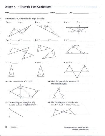 Printables Isosceles Triangles Worksheet dissecting triangles into isosceles canadian triangle sum conjecture and properties of triangles