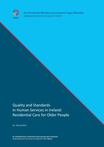 Quality and Standards in Human Services in Ireland - National ...