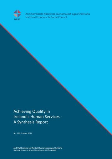 A Synthesis Report - National Economic & Social Council