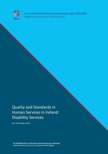 Disability Services - National Economic & Social Council