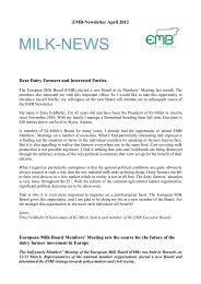 EMB-Newsletter April 2012 Dear Dairy Farmers and ... - NMV