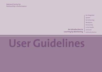 User Guidelines - the NESC Website