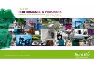 Export Performance and Prospects for 2011 - 2012 - Bord Bia