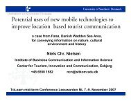 Potential uses of new mobile technologies to improve location ...