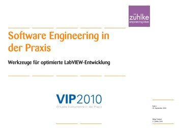 (Microsoft PowerPoint - Software Engineering in der Praxis ... - Zühlke