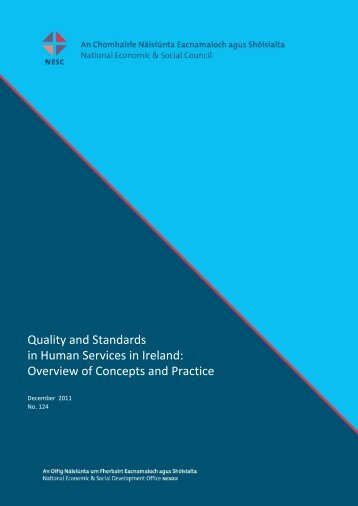 Quality and Standards in Human Services in Ireland - the NESC ...