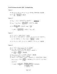 Side 1 af 2 Fysik B eksamen december 2008 – Løsningsforslag ...