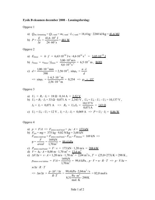 fysik b eksamen