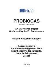 PROBIOGAS National report Greece