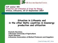 Situation in Lithuania and in the other Baltic countries in bioenergy ...