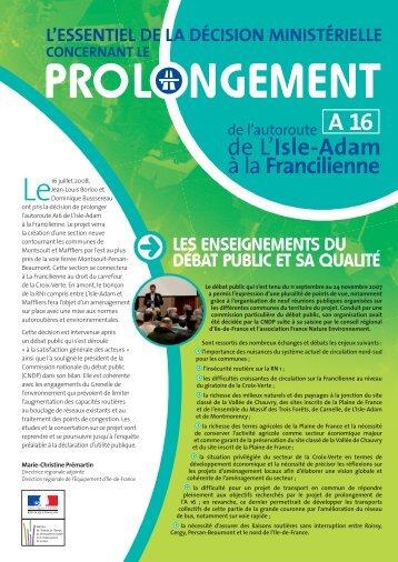 Décision ministérielle - Direction des routes Île-de-France