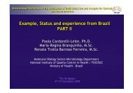 Example, status and experience from Brasil - European Union ...