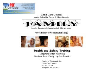 Child Care Council - Family of Woodstock