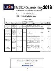 Career Talk - Universiti Tunku Abdul Rahman