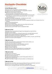 Hochzeit Checkliste - Yulia