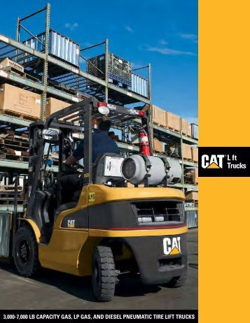 3000-7000 lb capacity gas, lp gas, and diesel pneumatic tire lift trucks