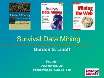 Survival Data Mining - SAS
