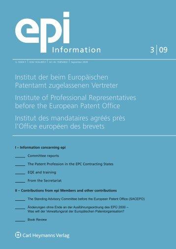 3 09 Information - epi