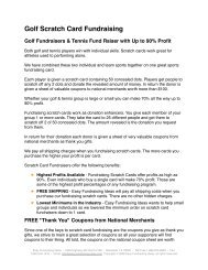 Golf Scratch Card Fundraising - Easy Fundraising Ideas
