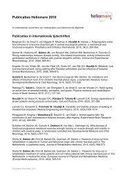 Publicaties Heliomare 2010