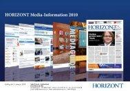 HORIZONT Media-Information 2010 - Isler Annoncen AG