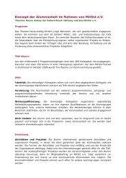 Konzept der Alumniarbeit im Rahmen von MitOst e.V.