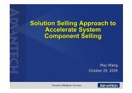 Solution Selling Approach to Accelerate System Component Selling ...