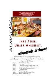 Angebot Stadlfeier 2012 2013 - Hotel*** - Restaurant Passhöhe