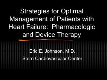 Update on Pharmacologic and Device Therapy - The Stern ...