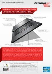 das lenovo® thinkpad® w530 notebook - Lenovo Partner Network