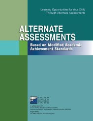 ALTERNATE ASSESSMENTS - College of Education & Human ...