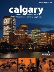 2012/2013 destination planning supplement - Tourism Calgary