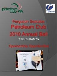 Event Sponsor - Petroleum Club Of WA