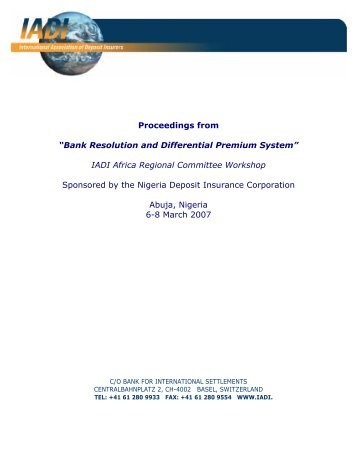 Bank Resolution and Differential Premium System - International ...