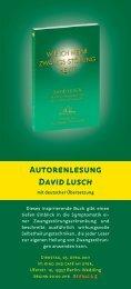 Autorenlesung David Lusch - Kino & Café am Ufer