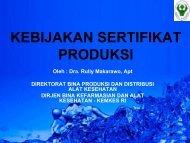 kebijakan sertifikat kebijakan sertifikat produksi - Direktorat Jenderal ...