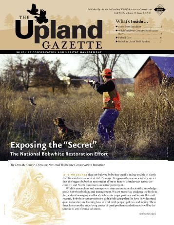 The Upland Gazette Fall 2012, Volume 17, Issue 2 - North Carolina ...