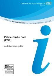 Pelvic Girdle Pain PI (DS) 473 - Pennine Acute Hospitals NHS Trust