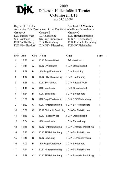 C Junioren U15 Djk Passau West