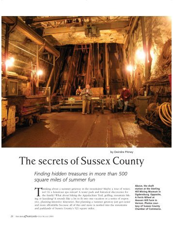 The secrets of Sussex County - Sussex County Chamber of Commerce