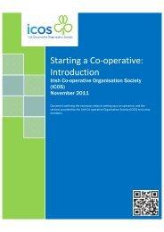 Starting a Co-operative - Irish Co-Operative Organisation Society
