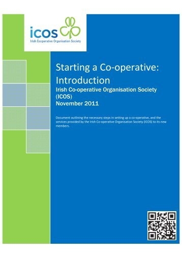 Starting a Co-operative - Irish Co-Operative Organisation Society