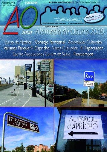 Octubre 2012 - Asociación de Vecinos Alameda de Osuna 2000